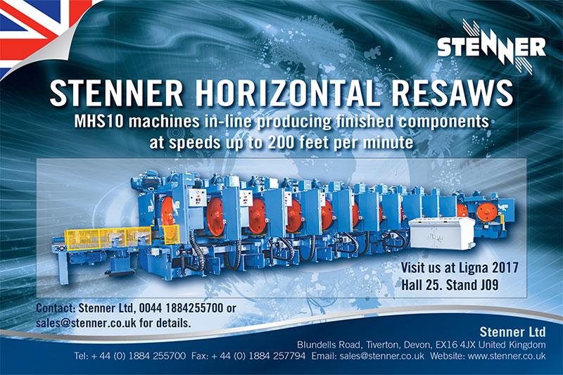 Stenner Ltd : Ligna 2017 : Hall 25 : Stand J09
