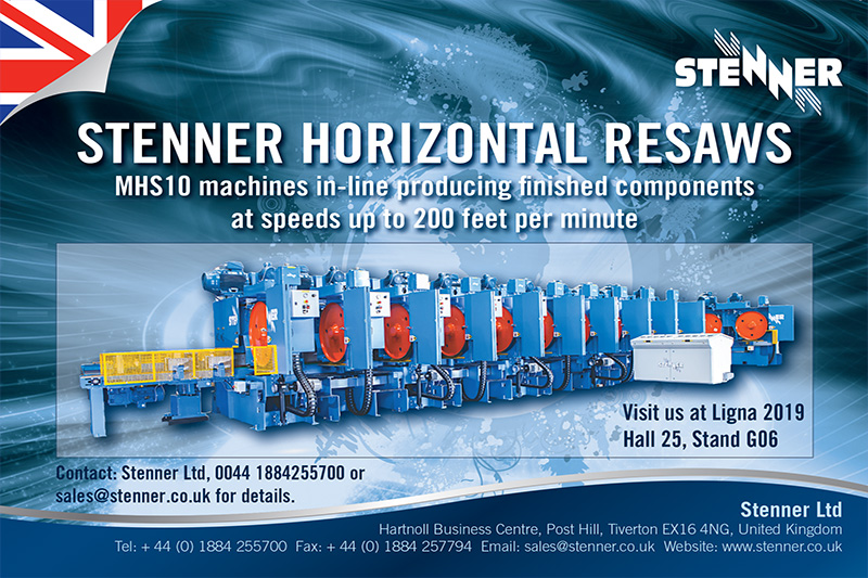Stenner Ltd : Ligna 2019 : Hall 25 : Stand G06